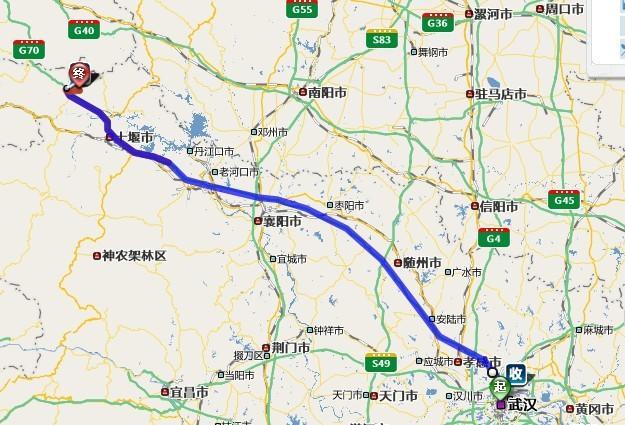 从武汉到郧西五龙河
