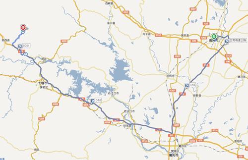南阳市 至五龙河景区线路导航